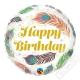 Nafukovací balónek narozeninový Pírko 45cm