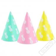 Papírové party kloboučky Ananas
