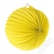 Papírový lampion kulatý žlutý