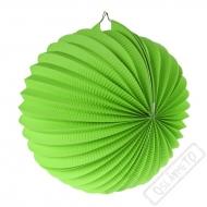 Papírový lampion kulatý zelený