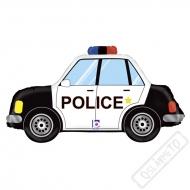 Nafukovací balón fóliový Policejní auto 80cm