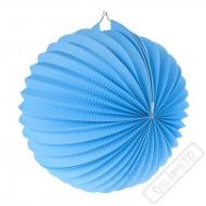 Papírový lampion kulatý modrý