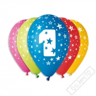 Nafukovací balónek latex s číslem 1 mix