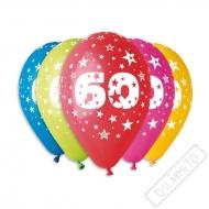 Nafukovací balónek latexový s číslem 60 mix