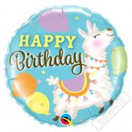 Nafukovací balónek narozeninový Lama 45cm