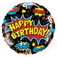 Nafukovací balónek narozeninový Komiks 45cm