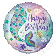 Nafukovací balónek narozeninový Mermaid 45cm