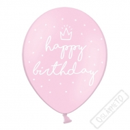 Latexový balónek Birthday Style Pinky