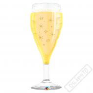 Nafukovací balón fóliový Sklenička Champagne 99cm
