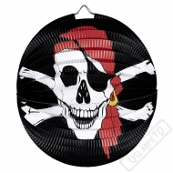 Papírový lampion kulatý Pirát