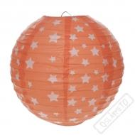 Závěsný lampion s hvězdami korálový