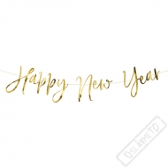 Fóliový banner Happy New Year zlatý