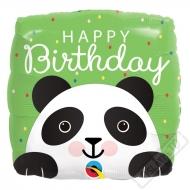 Narozeninový balónek čtvercový Panda 46cm