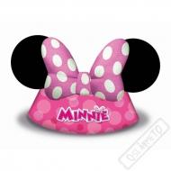 Papírové party kloboučky Myška MInnie