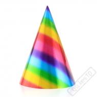Papírové party kloboučky Duha