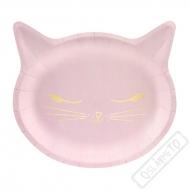 Papírové party talíře Kočka