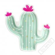 Papírové party talíře Kaktus