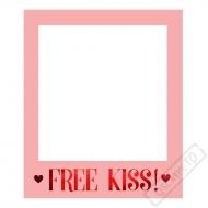 Rámeček na selfie Free Kiss!