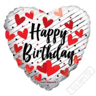 Nafukovací balónek Srdce narozeninové 46cm