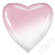 Nafukovací balónek Srdce Ombré pinky 45cm