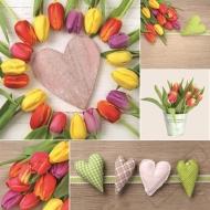 Velikonoční papírové ubrousky Tulipány