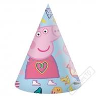 Papírové party kloboučky Prasátko Pepina
