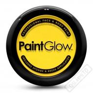 Obličejová barva s houbičkou a štětcem žlutá