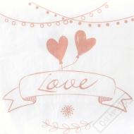 Papírové svatební ubrousky Romance
