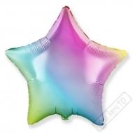 Nafukovací balónek fóliový Hvězda Rainbow 45cm
