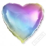 Nafukovací balónek fóliový Srdce Rainbow 45cm