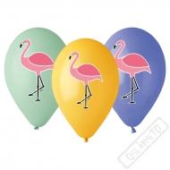 Latexové balónky s potiskem Plameňák
