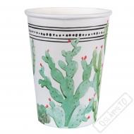 Papírové party kelímky Kaktus