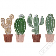 Dekorační dřevěné konfety Kaktusy