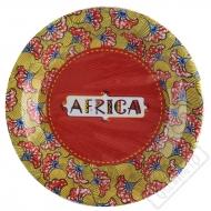 Papírové party talíře Afrika