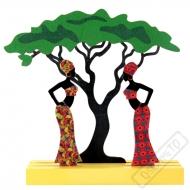 Dřevěná dekorace na stůl Afrika