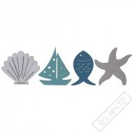 Dekorační dřevěné konfety Sea Side