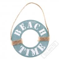 Dřevěná dekorace Záchranný kruh Beach Time