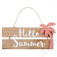 Závěsná dřevěná dekorace Summer Time