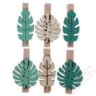 Dekorační dřevěné kolíčky Tropical