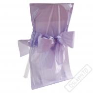 Univerzální potah na židli s mašlí lila