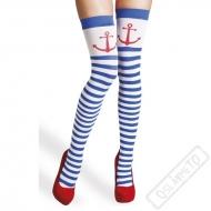 Nadkolenky Sailor pruhované s kotvou