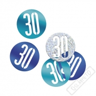 Dekorační konfety na stůl číslo 30 modré