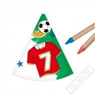Papírové kloboučky k domalování Fotbal