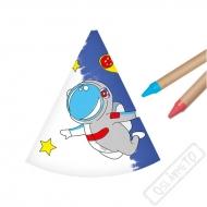 Papírové kloboučky k domalování Vesmír