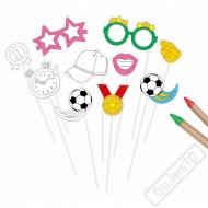 Rekvizity na focení k domalování Fotbal