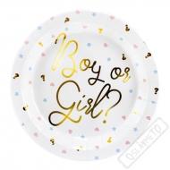 Papírové party talíře Boy or Girl