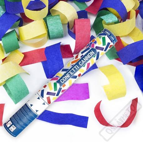 Vystřelovací konfety barevné 40cm