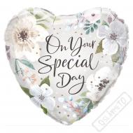 Nafukovací balónek Srdce Tvůj speciální den 45cm