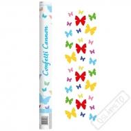 Vystřelovací konfety Motýli Color 60cm