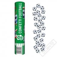 Vystřelovací konfety Fotbalové míče 30cm